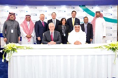 The signing for Johns Hopkins Aramco Healthcare