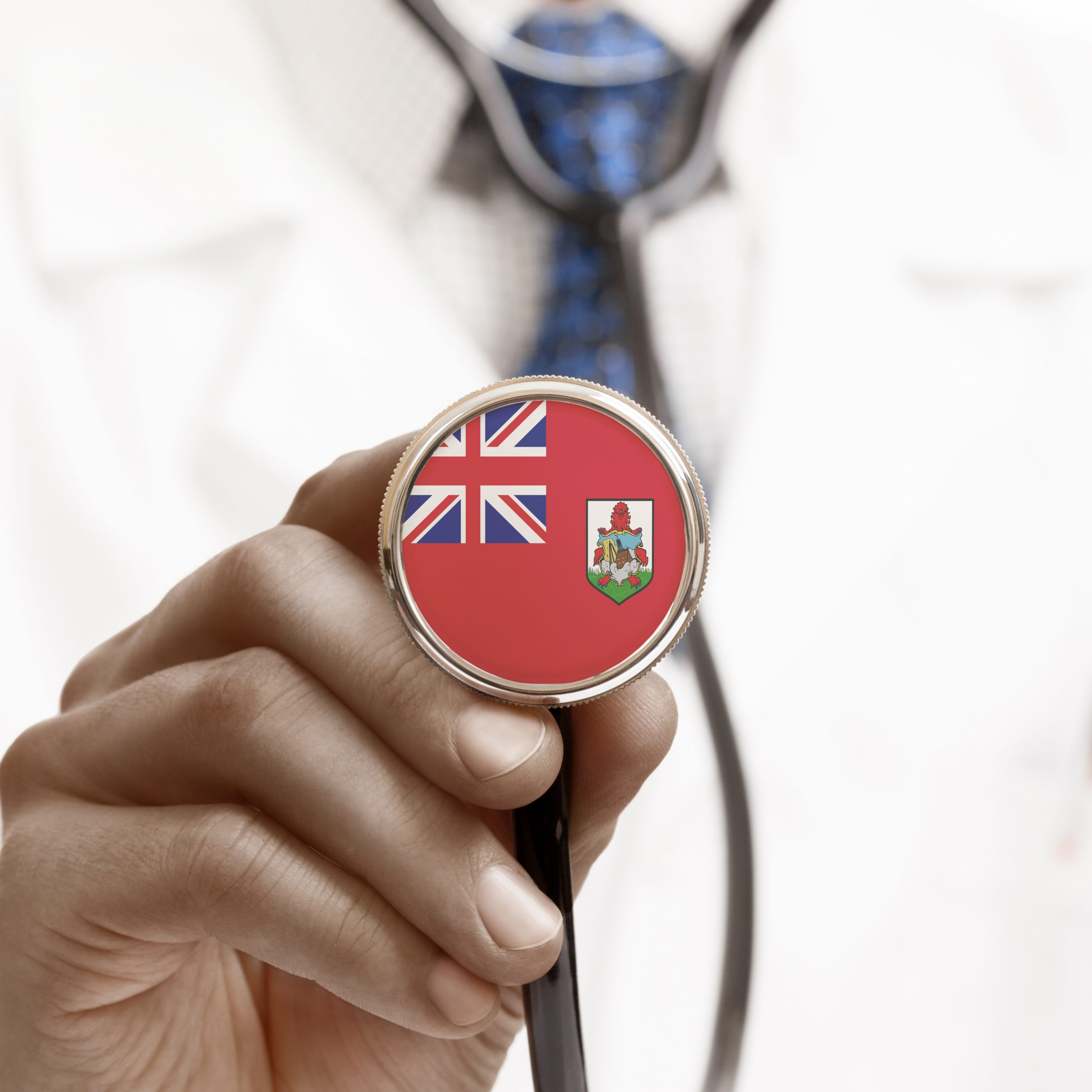 Stethoscope with national flag conceptual series - Bermuda
